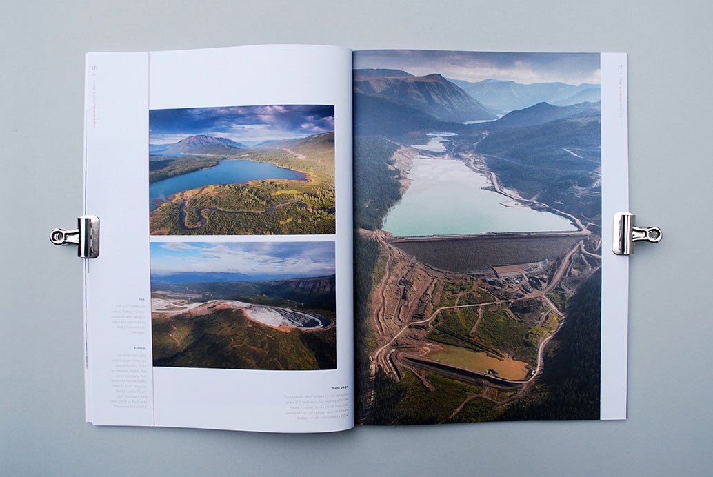 The Narwhal Magazine photo essay layout design, the Canadian mining boom you've never seen before, photography by Garth Lenz | www.alicia-carvalho.com