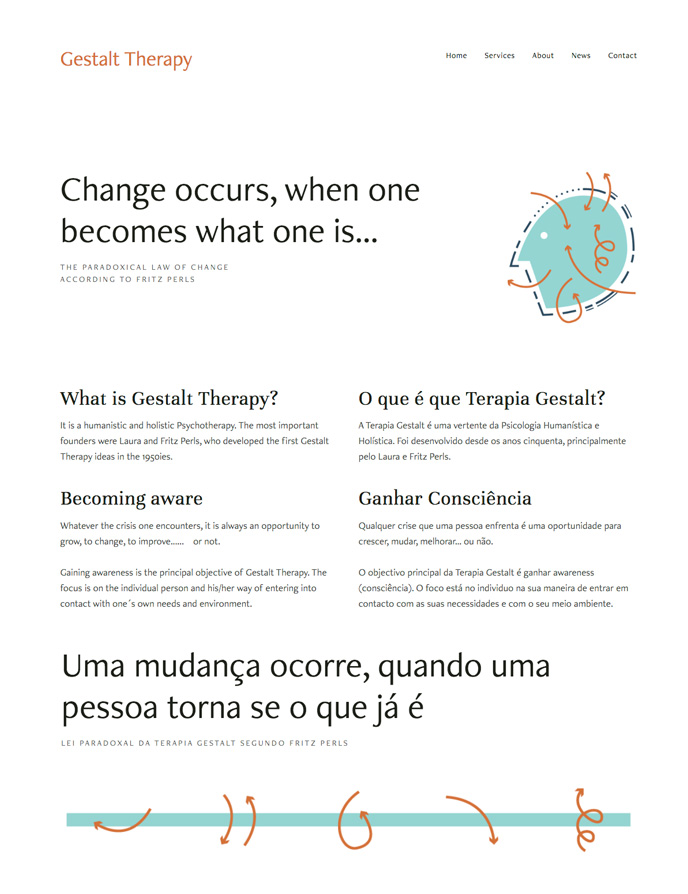 Gestalt Therapy Portugal Website Design | wwww.alicia-carvalho.com