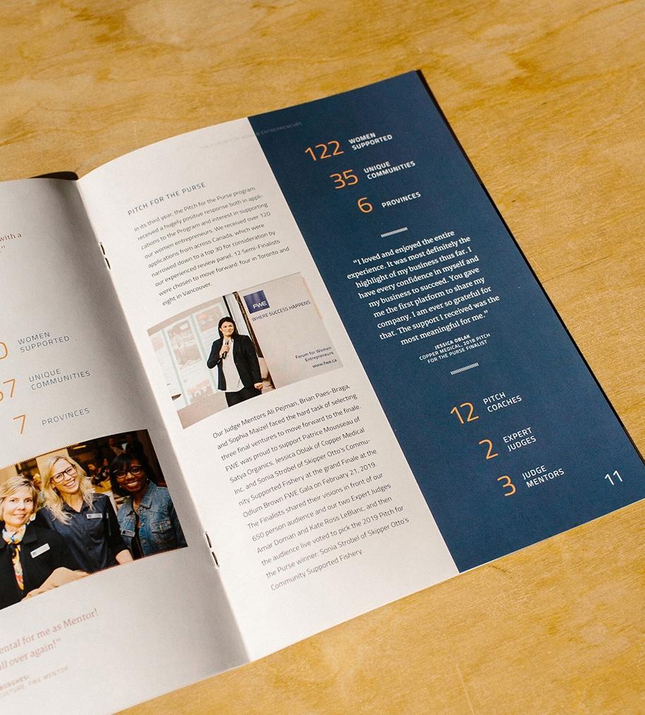 Forum for Women Entrepreneurs (FWE) printed Annual Report design   www.alicia-carvalho.com
