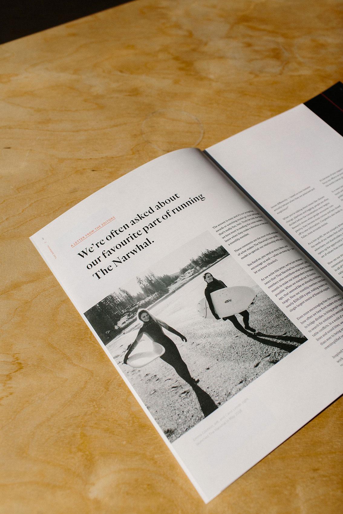 Typography and Design Details for The Narwhal Print Magazine | www.alicia-carvalho.com | www.alicia-carvalho.com