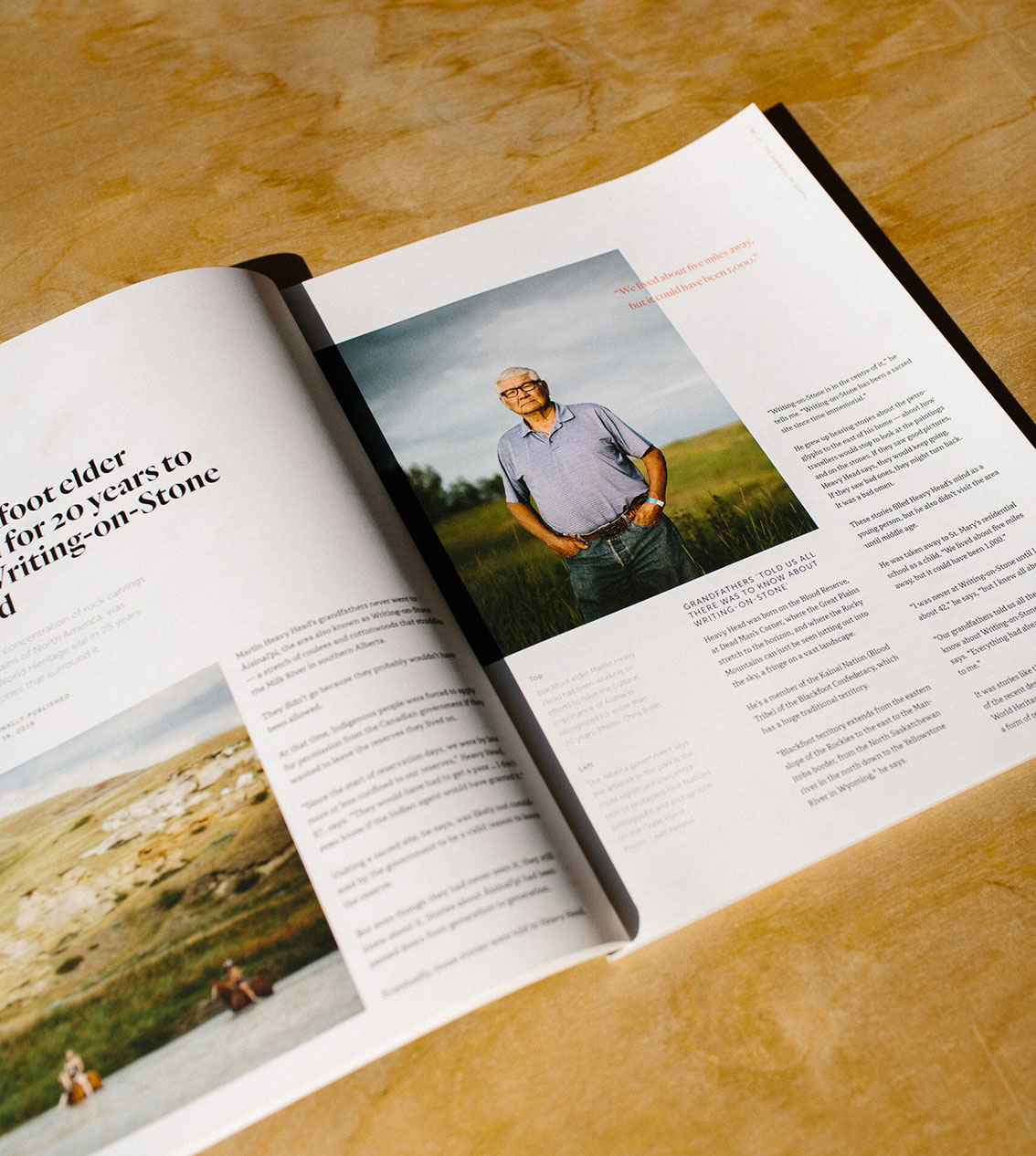 Layout Design for print magazine The Narwhal, Photography by Leah Hennel and Chris Bolin | www.alicia-carvalho.com