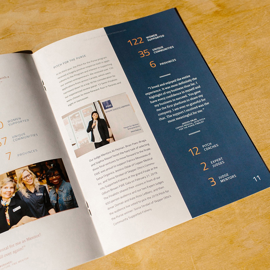 FWE printed Annual Report Design | www.alicia-carvalho.com