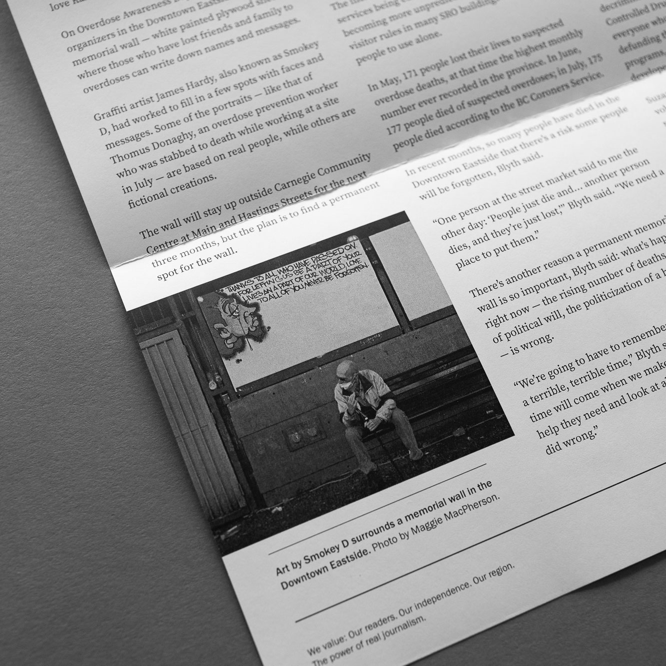 The Tyee: going deep on BC's biggest issues. Design details and layout design for DTES printed newspaper  | www.alicia-carvalho.coma
