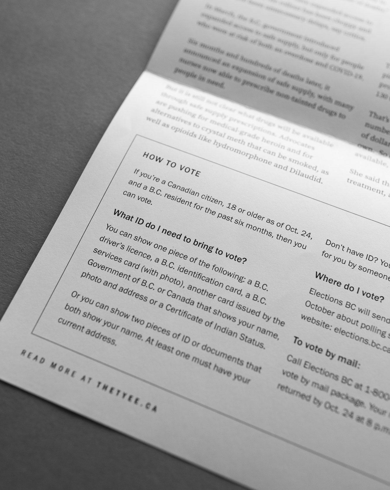 Printed layout design details for newspaper newsletter design  | www.alicia-carvalho.com