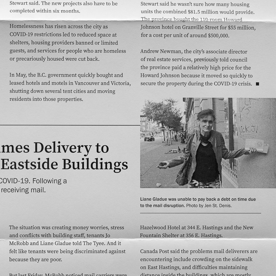 Layout design: going deep on BC's biggest issues by Jen St. Denis, The Tyee's Downtown eastide reporter   | www.alicia-carvalho.com
