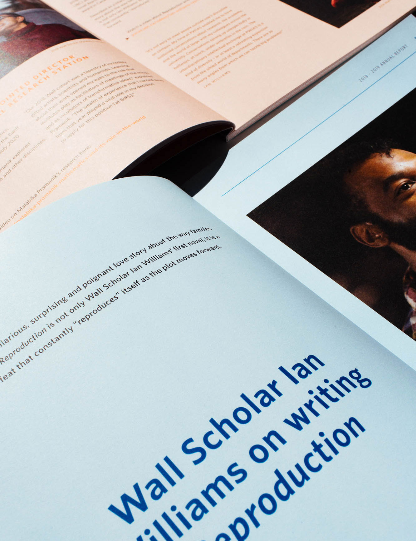 Editorial feature design for Peter Wall Institute for Advanced Studies printed Annual Report | www.alicia-carvalho.com
