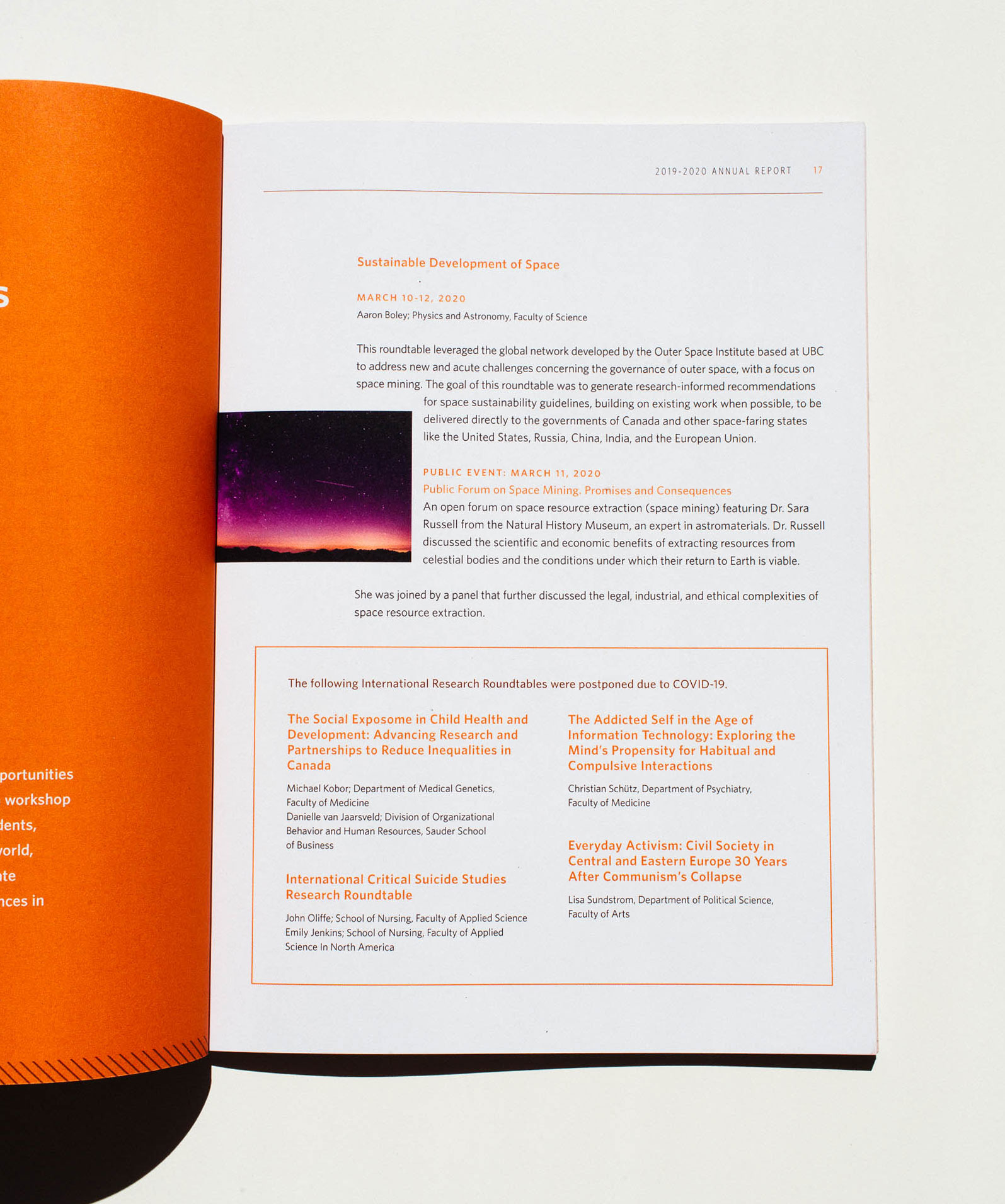 Typography and Layout design details, Peter Wall Institute for Advanced Studies printed Annual Report | www.alicia-carvalho.com