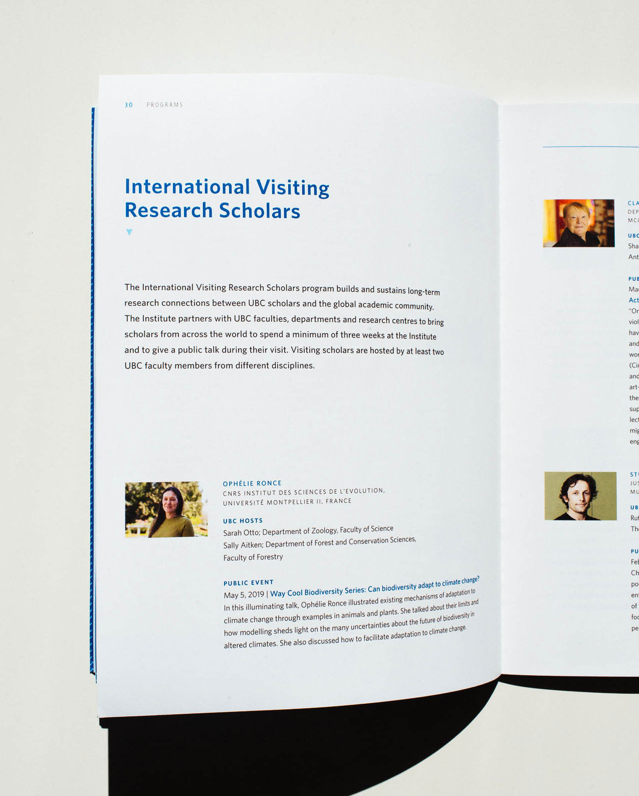 Clean typography and design layout details for Peter Wall Institute For Advanced studies printed Annual Report | www.alicia-carvalho.com
