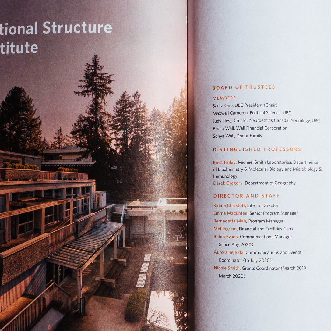 Peter Wall Institute for Advanced Studies at UBC, Vancouver, BC printed Annual Report | www.alicia-carvalho.com