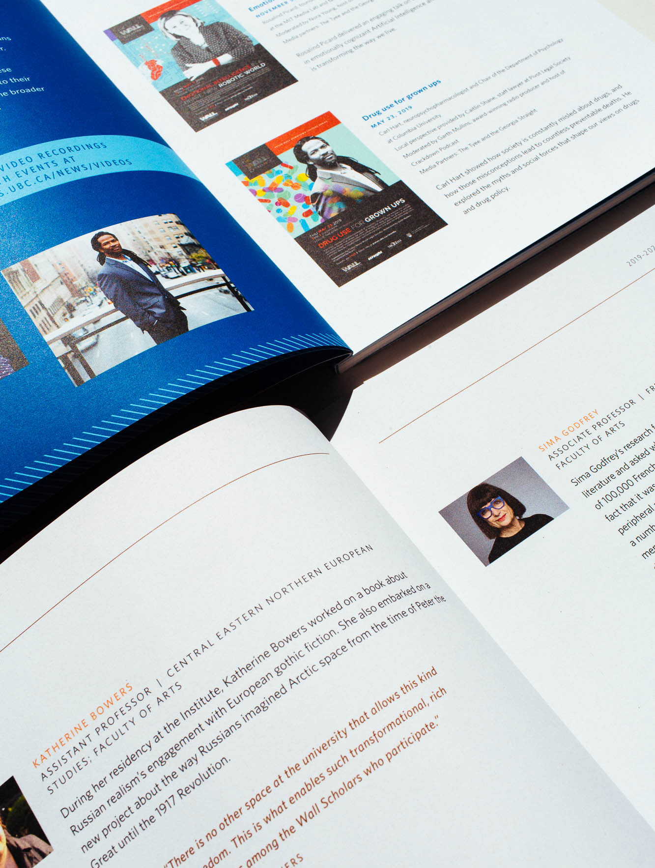 Design Details for Peter Wall Institute For Advanced studies printed layout of Annual Report | www.alicia-carvalho.com