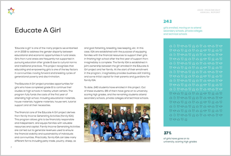 imagine1day digital Annual Report, Educate A Girl Ethiopia   www.alicia-carvalho.com